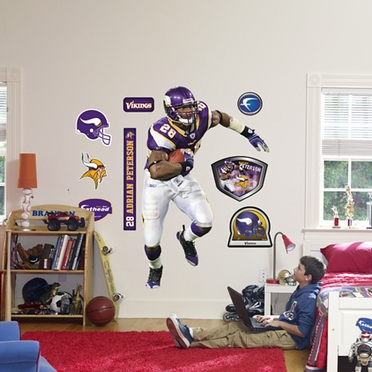Minnesota Vikings Adrian Peterson (Running Back) Fathead Wall Graphic