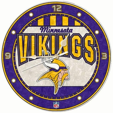 Minnesota Vikings Art Glass Clock