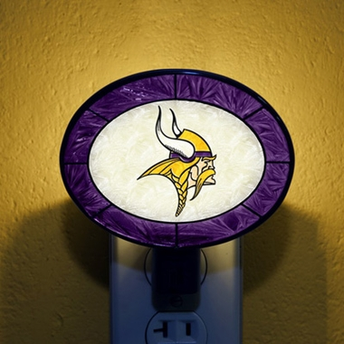 Minnesota Vikings Art Glass Night Light
