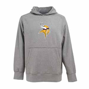 Minnesota Vikings Big Logo Mens Signature Hooded Sweatshirt (Color: Gray) - XXX-Large