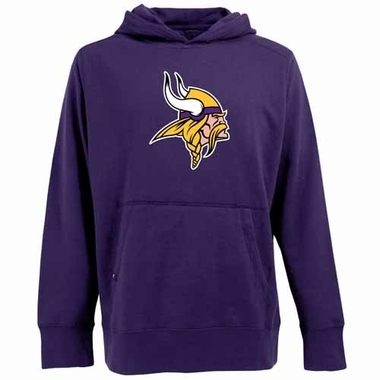 Minnesota Vikings Big Logo Mens Signature Hooded Sweatshirt (Team Color: Purple)