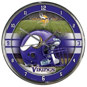 Minnesota Vikings Chrome Clock
