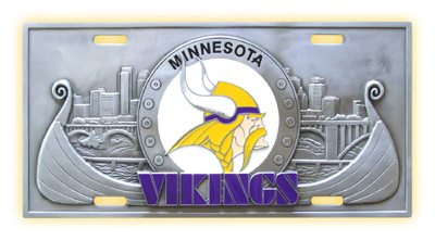 Minnesota Vikings Deluxe Collector's License Plate