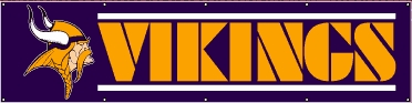 Minnesota Vikings Eight Foot Banner