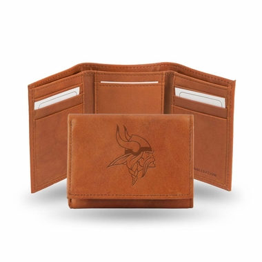 Minnesota Vikings Embossed Leather Trifold Wallet
