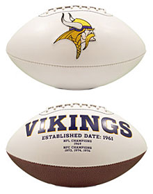 Minnesota Vikings Full Size Embroidered Signature Series Football