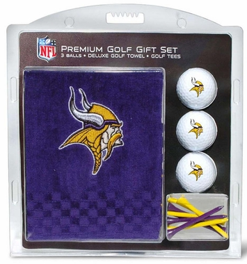 Minnesota Vikings Embroidered Towel Golf Gift Set