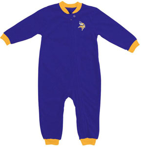 Minnesota Vikings Fleece Toddler Sleeper Pajamas - 4T