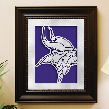 Minnesota Vikings Framed Laser Cut Metal Wall Art