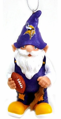 Minnesota Vikings Gnome Christmas Ornament