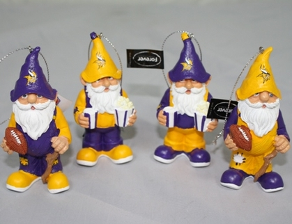 Minnesota Vikings Gnome Ornament 4 Pack
