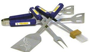 Minnesota Vikings Grill BBQ Utensil Set