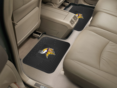 Minnesota Vikings SET OF 2 Heavy Duty Vinyl Rear Car Mats
