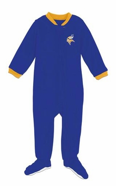 Minnesota Vikings Infant Footed Sleeper Pajamas