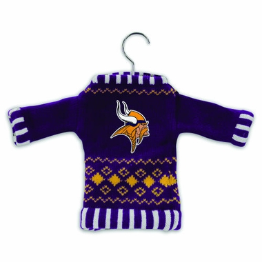 Minnesota Vikings Knit Sweater Ornament (Set of 3)