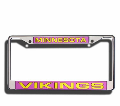 Minnesota Vikings Laser Etched Chrome License Plate Frame