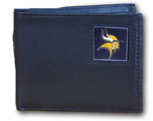Minnesota Vikings Leather Bifold Wallet (F)