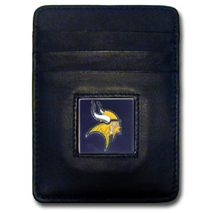 Minnesota Vikings Leather Money Clip (F)
