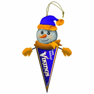 Minnesota Vikings Light Up Snowman Pennant Ornament (Set of 2)
