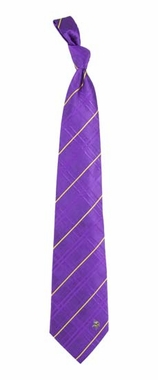 Minnesota Vikings Oxford Stripe Woven Silk Necktie