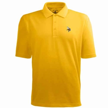 Minnesota Vikings Mens Pique Xtra Lite Polo Shirt (Alternate Color: Gold)