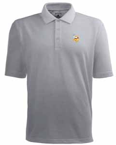 Minnesota Vikings Mens Pique Xtra Lite Polo Shirt (Color: Gray) - XXX-Large