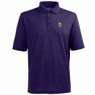 Minnesota Vikings Mens Pique Xtra Lite Polo Shirt (Team Color: Purple)