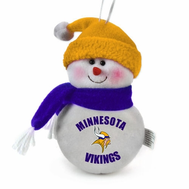 Minnesota Vikings Plush Snowman Ornament (Set of 3)