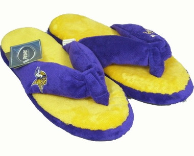 Minnesota Vikings Plush Thong Slippers