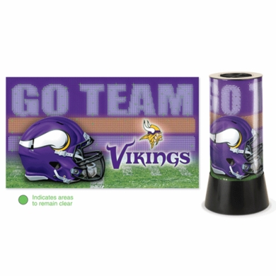 Minnesota Vikings Rotating Lamp
