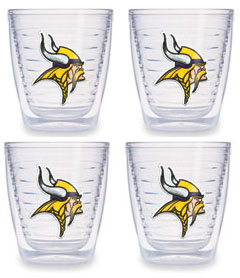 Minnesota Vikings Set of FOUR 12 oz. Tervis Tumblers
