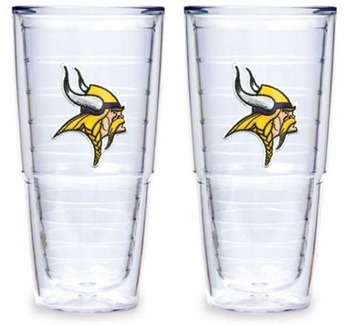 "Minnesota Vikings Set of TWO 24 oz. ""Big T"" Tervis Tumblers"