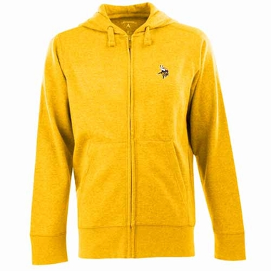 Minnesota Vikings Mens Signature Full Zip Hooded Sweatshirt (Alternate Color: Gold)