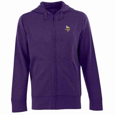 Minnesota Vikings Mens Signature Full Zip Hooded Sweatshirt (Team Color: Purple)