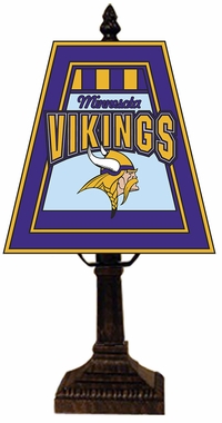 Minnesota Vikings Small Art Glass Lamp