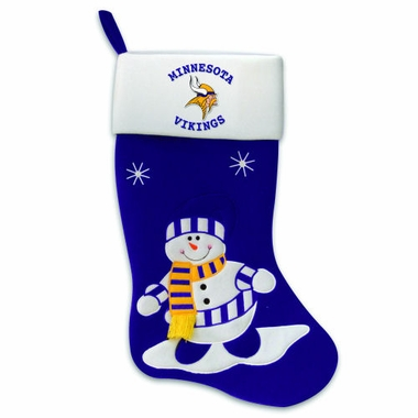 Minnesota Vikings Snowman Felt Stocking