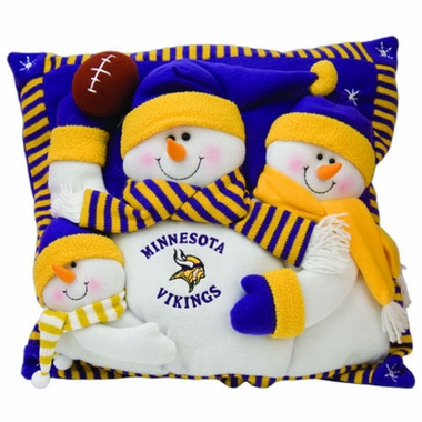 Minnesota Vikings Snowmen Family Pillow