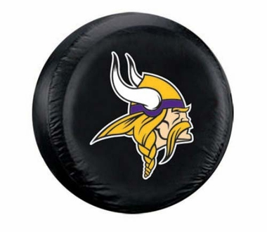 Minnesota Vikings Black Tire Cover - Standard Size