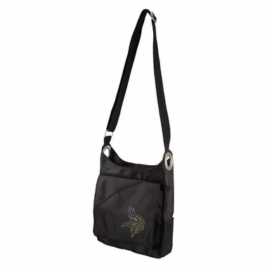 Minnesota Vikings Sport Noir Sheen Crossbody Bag