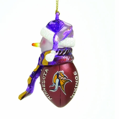Minnesota Vikings Striped Acrylic Touchdown Snowman Ornament (Set of 4)