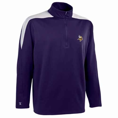 Minnesota Vikings Mens Succeed 1/4 Zip Performance Pullover (Team Color: Purple)