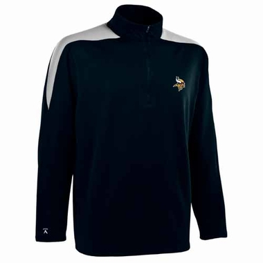 Minnesota Vikings Mens Succeed 1/4 Zip Performance Pullover (Color: Smoke)