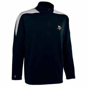 Minnesota Vikings Mens Succeed 1/4 Zip Performance Pullover (Color: Smoke) - X-Large
