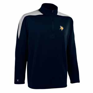 Minnesota Vikings Mens Succeed 1/4 Zip Performance Pullover (Color: Smoke) - XXX-Large