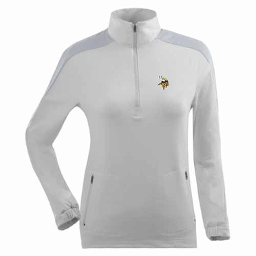 Minnesota Vikings Womens Succeed 1/4 Zip Performance Pullover (Color: White)