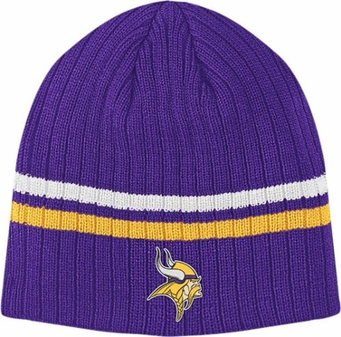 Minnesota Vikings Team Stripe Cuffless Knit Hat