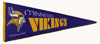 Minnesota Vikings Throwback Wool Pennant