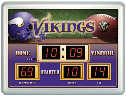 Minnesota Vikings Time / Date / Temp. Scoreboard