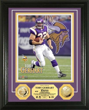 Minnesota Vikings Toby Gerhart Gold Coin Photomint