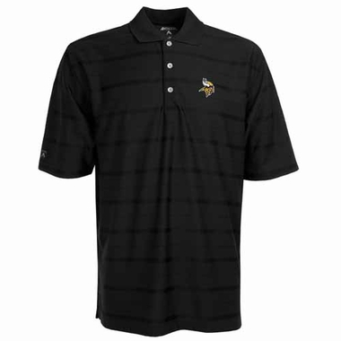 Minnesota Vikings Mens Tonal Polo (Team Color: Black)